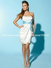a line strapless short princess wedding gown twd002 in wedding