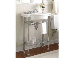 pedestal sink with legs pedestal sink metal legs retrospect pedestals lavatory american