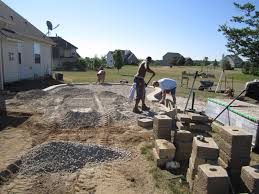 Raised Patio Construction How To Build A Raised Patio With Pavers Home Outdoor Decoration