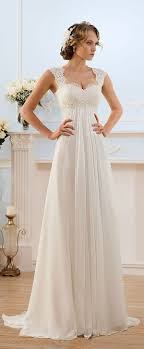wedding dress necklines glamorous chiffon sweetheart neckline empire waistline sheath