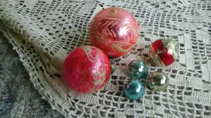 retro wooden ornament set of 5 vintage handmade wood decorations