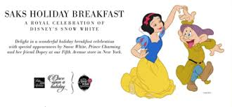 enjoy a magical breakfast with snow white at saks fifth avenue