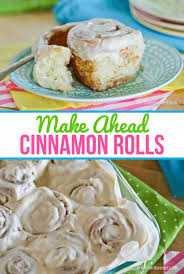 make ahead cinnamon rolls from the oven