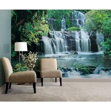 komar 145 in x 8 ft 4 in purakaunui falls waterfall mural 8 256 purakaunui falls waterfall mural