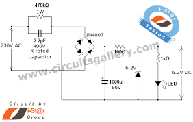 transformer less ac to dc power supply circuit using dropping