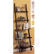 amazon com poundex leaning bookcase bookshelf dark espresso