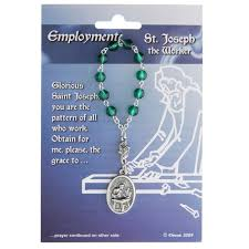 rosary for st joseph the worker st dymphna decade rosary for employment