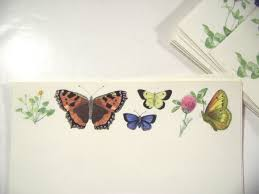butterfly writing paper vintage illustrated stationery and