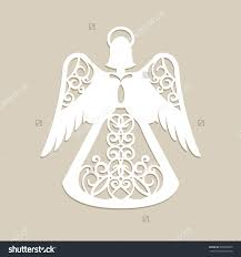 christmas carved openwork angel a template for laser cutting