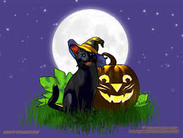 jack cat halloween wallpaper copyright robin wood 2006