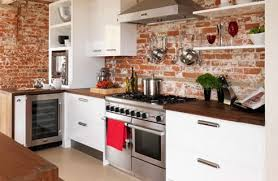 kitchens with brick walls peering through windows kitchens exposed brick and loads of