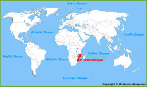 Map Of Rio De Janeiro Mozambique Location On The World Map