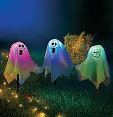 accessories changing led halloween happy ghost lights finished