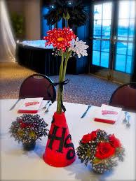 centennial cheer banquet centerpiece red black and white my