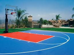 How To Build A Basketball Court In Backyard Basketball Court In Backyard Crafts Home