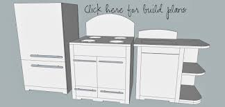 Kids Kitchen Furniture by Imperfectly Imaginable Pottery Barn Inspired Retro Kids Kitchen