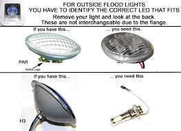 rv outside led lights h3 led replacement bulb for rv and trailer flood lights