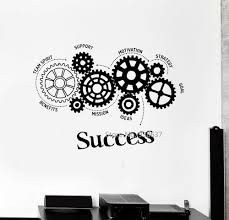 online get cheap wall sticker quotes success aliexpress com quotes vinyl wall decal success words gears office motivation removable art stickers inspirational wall sticker for