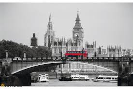 murals llondon view with a bridge and a red bus wall murals llondon view with a bridge and a red bus