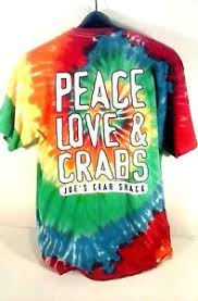 joe s crab shack shirts tie dye t shirt l joe s crab shack peace crab shack