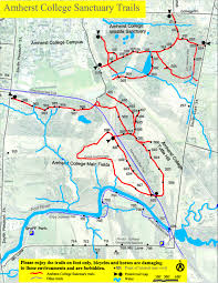 amherst map wildlife sanctuary recreation trails points of interest