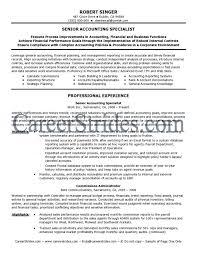 free accountant resume intermediate accountant resume exles templates senior exle of