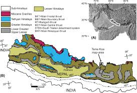 Kathmandu Nepal Map by The Geology Of The Tama Kosi And Rolwaling Valley Region East