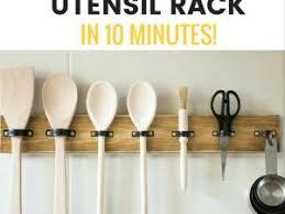rangement ustensiles cuisine rangement pour ustensiles de cuisine tutoriel gratuit diy par