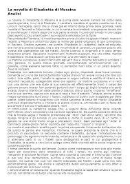 analisi testo lisabetta da messina la novella di elisabetta da messina boccaccio docsity
