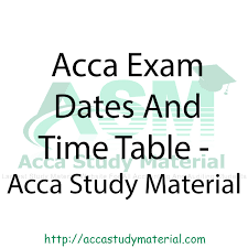 acca exam timetable december 2014 session acca study material