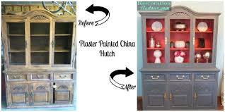 plaster painted china hutch hometalk