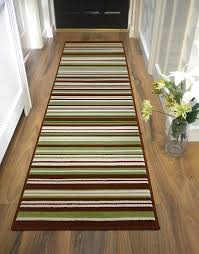 Modern Rug Runners For Hallways by Large Contemporary Stripe Design Green Brown Runner Rug In 60 X
