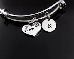flower girl charm bracelet handmade girl charm bracelet etsy