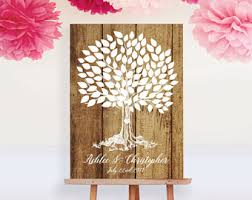 wedding tree guest book tree guest book etsy