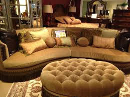 Microfiber Sectional Sofa With Ottoman by Cleopatra Sectional Couch U0026 Ottoman The Rebuild Pinterest