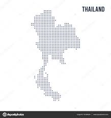thailand vector map vector pixel map of thailand isolated on white background stock