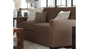 2 Sofas In Living Room by Axis Ii 2 Seat Brown Sleeper Sofa Crate And Barrel