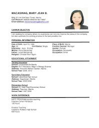 Mckinsey Resume Resume Example Personal Information Resume Ixiplay Free Resume