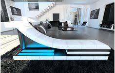 sofa mit led beleuchtung moderne design wohnlandschaft turino u form aus leder mit led