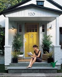 Blue Front Door Meaning by The Stepped Up Stoop Martha Stewart