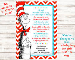 dr seuss baby shower invitations dr seuss baby shower etsy