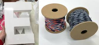 make letters wrapped with thread mod podge rocks
