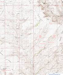 Topographic Map Of Utah by Topographic Map Of Trachyte Point Canyon Witches Cauldron Utah