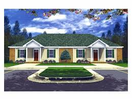 duplex home plans one story multi family house plan 001m 0002