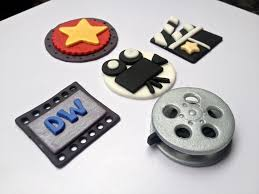 hollywood set qty 12 handmade edible fondant cupcake toppers