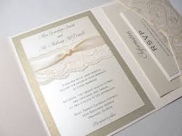 wedding invitation pocket lace pocket wedding invitations lace wrapped wedding invitation