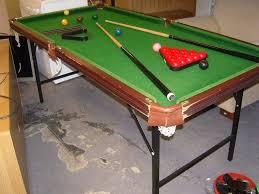 6 ft billiard table 6 ft snooker table with folding legs cues balls scoreboard etc