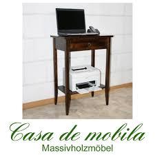 Schreibtisch Kolonial Laptoptisch Druckertisch Konsole Konsolentisch Kolonial Braun Nussbaum