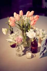 Mason Jar Wedding Centerpieces Pink Tulips In Mason Jar Wedding Centerpiece Ideas Elizabeth
