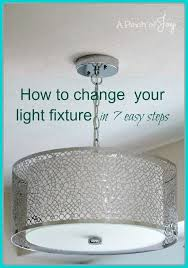 New Light Fixtures How To Change Light Fixtures In 7 Easy Steps A Pinch Of